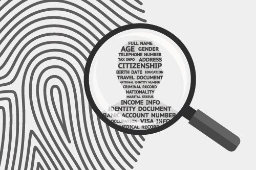 Personal information magnifying finger print - privacy information system for information security
